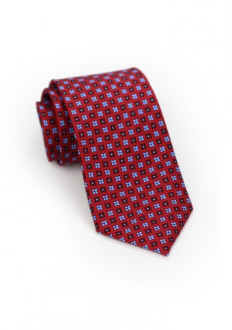 cherry-red-light-blue-floral-tie