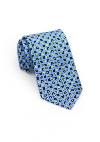 floral-print-tie-blue-yellow
