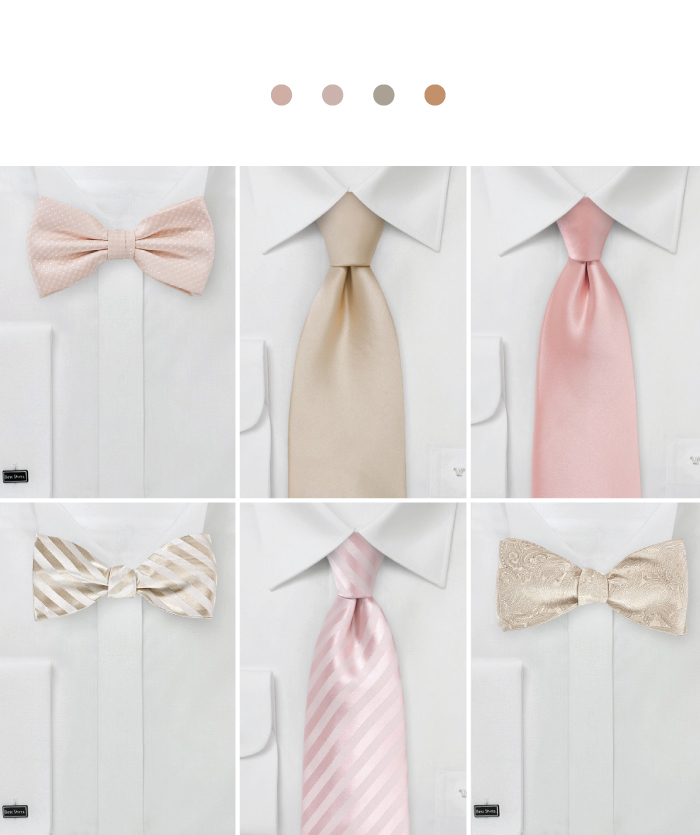Groomsmen Accessories for Rose Gold Weddings