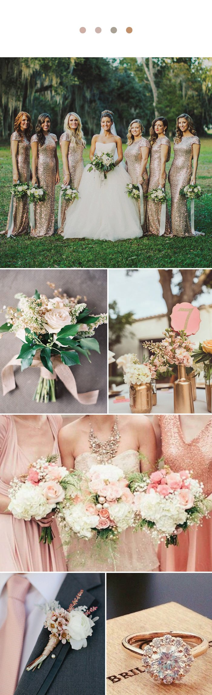 Wedding Color Inspiration For Rose Gold Groomsmen