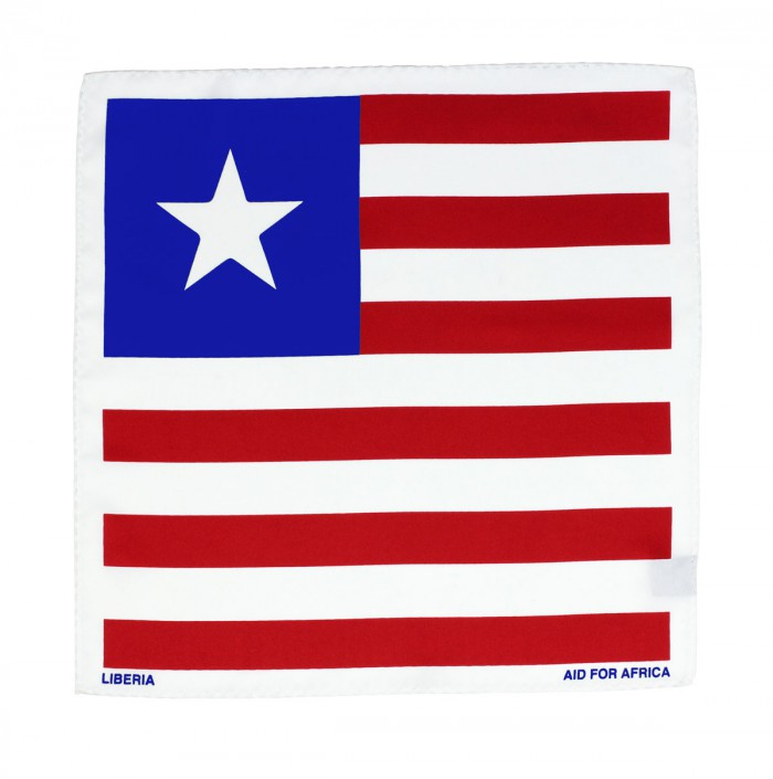 Liberia Pocket Square