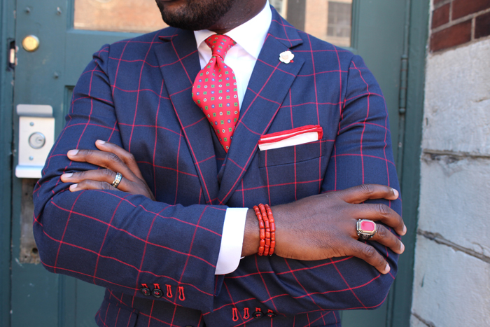 Designer Red Patterned Tie