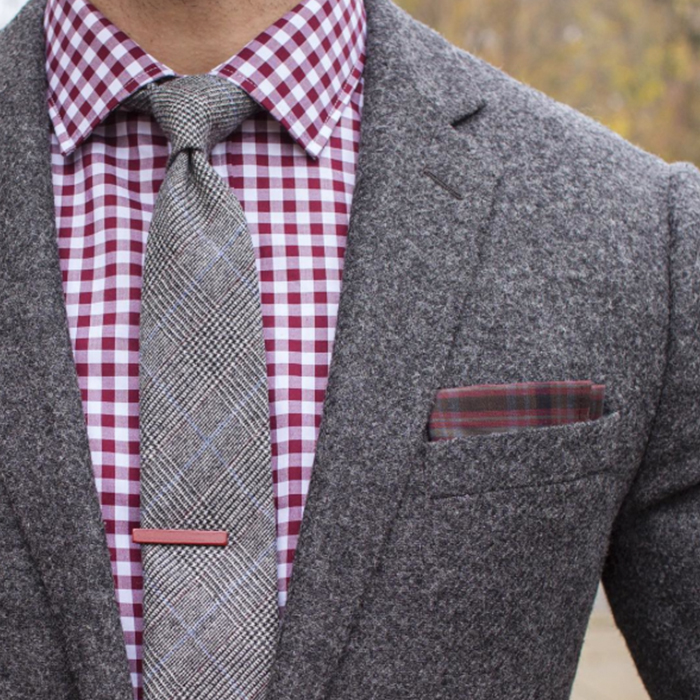 Black Knit Tie With Navy Blazer