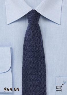 navy blue cashmere necktie