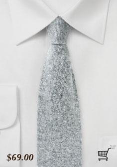gray cashmere mens knit necktie