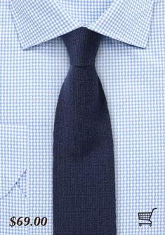 navy blue cashmere mens tie