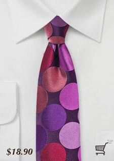 pink-skinny-tie-giant-polka-dots