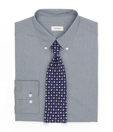 Pin Dot Tie Shirt and Foulard Tie