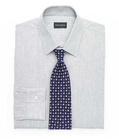 Textured Shirt and Foulard Tie