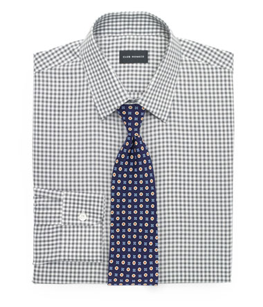 Gingham Tie and Foulard Tie