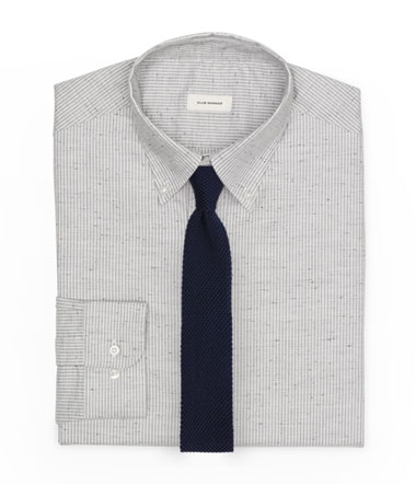 Textured Dress Shirt and Knit Tie