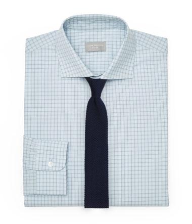 Light Blue Dress Shirt and Navy Knit Tie