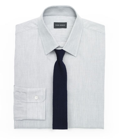 Textured Shirt and Knit Tie