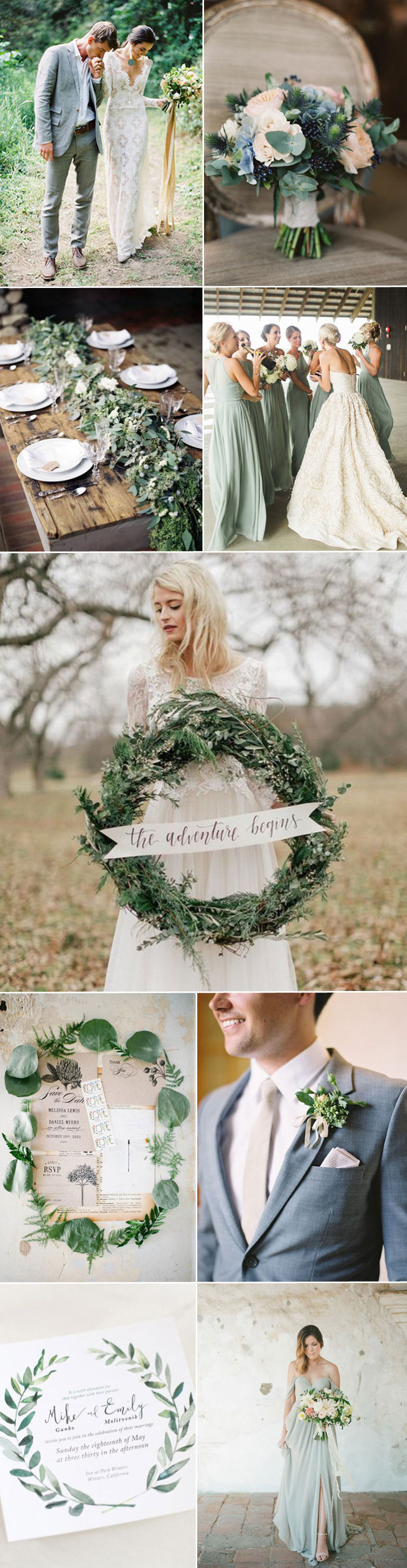 Wedding color inspiration for sage greens and tans - What color is sage green ...
