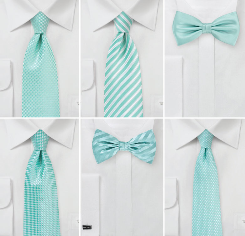 Spa Blue Wedding Ties