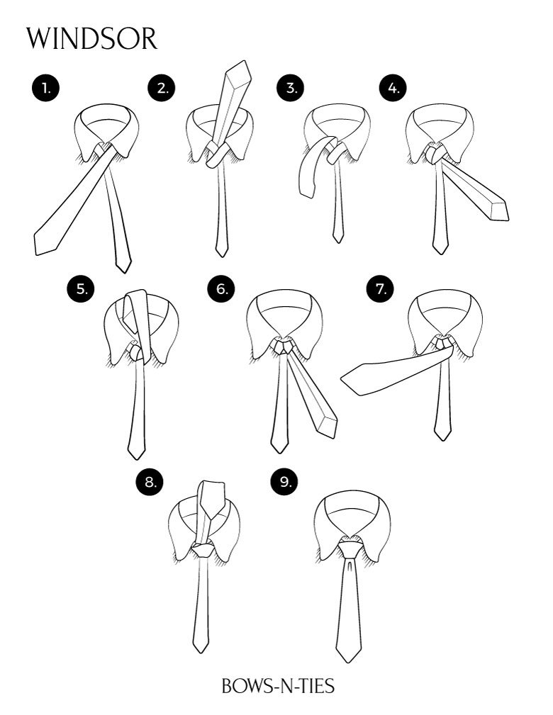 Windor Knot Instructions
