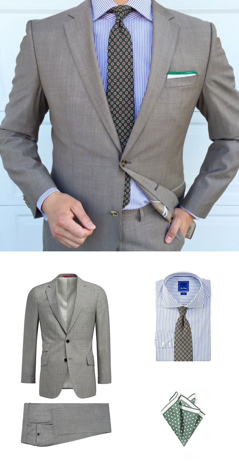 Menswear Look - Summer Suit and Tie