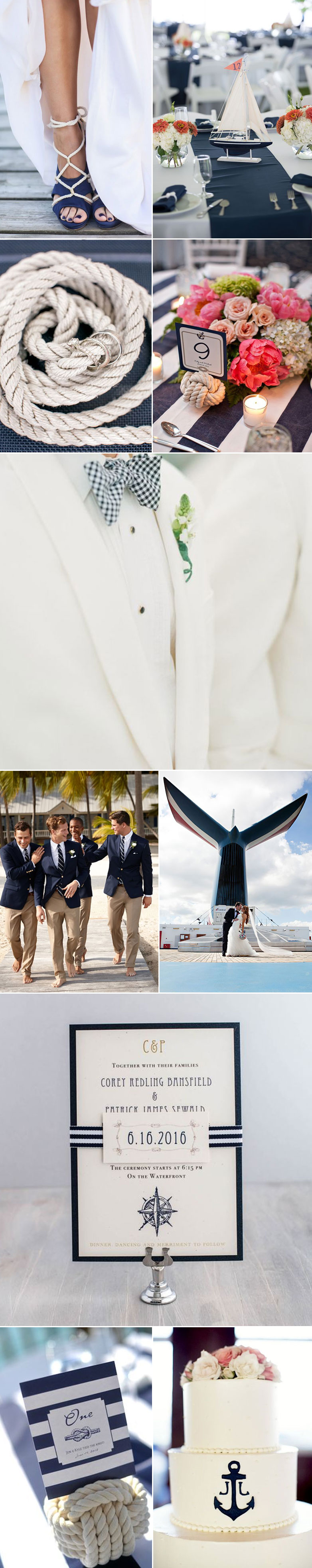 Nautical wedding inspiration bows n ties nautical wedding ideas junglespirit Images