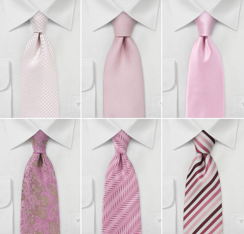 Best Pink Wedding Ties and Neckties