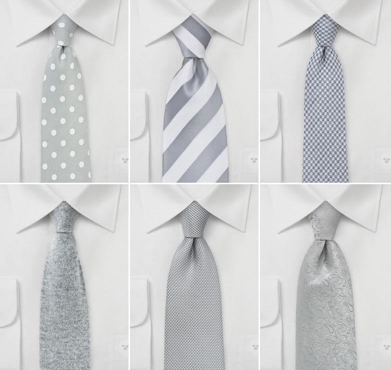 Wedding Ties in Dove Gray