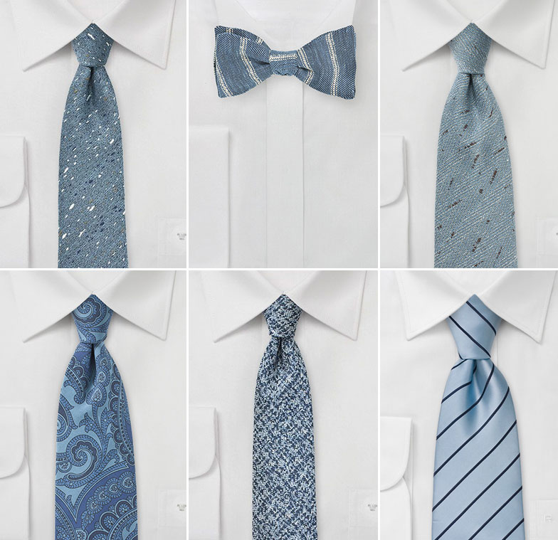Infinity Blue Wedding Ties