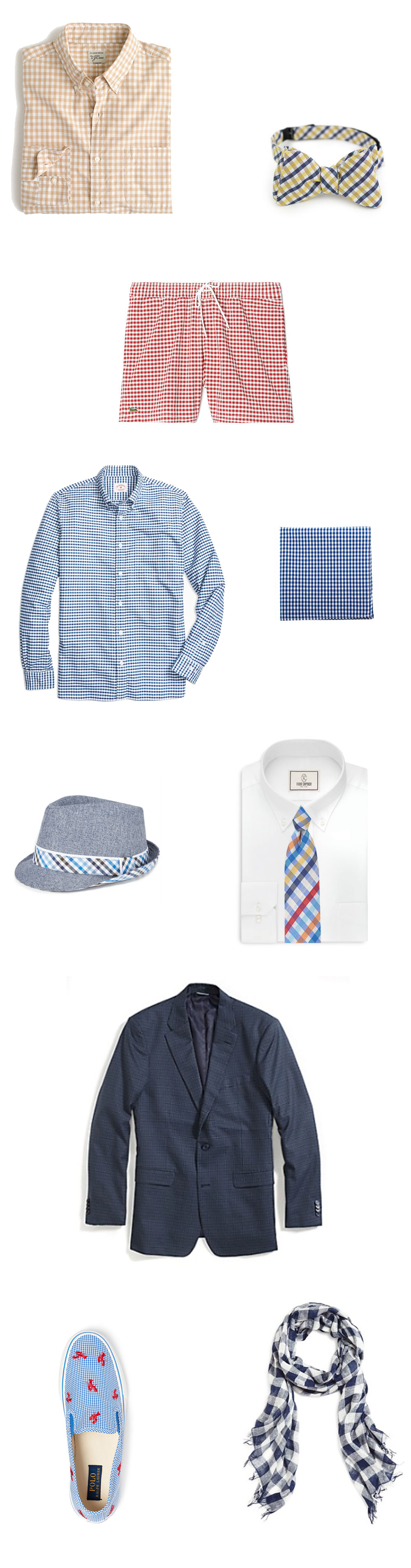 Gingham Fashion Items For Men