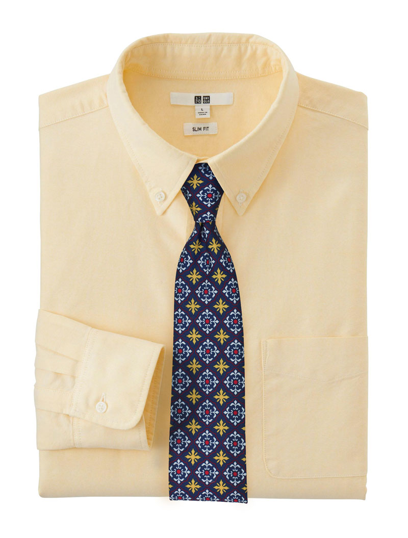 Blue and Yellow Spanish Tile Necktie