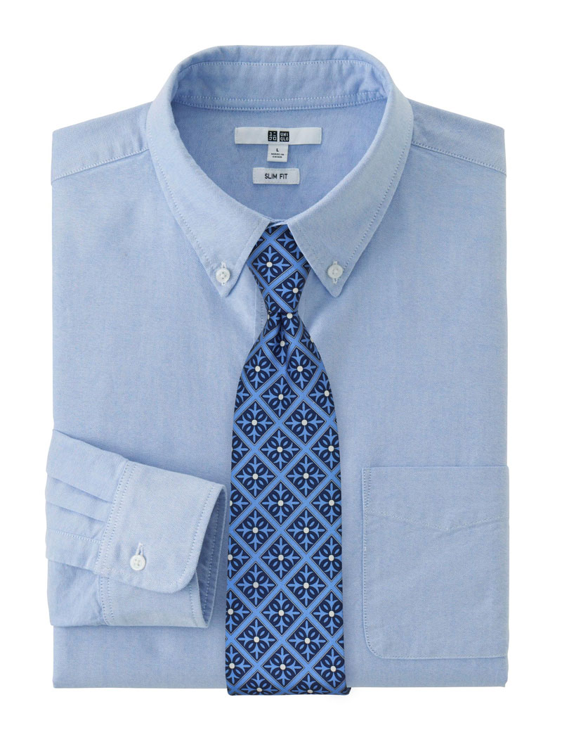 Blue Spanish Tile Design Cotton Neckties