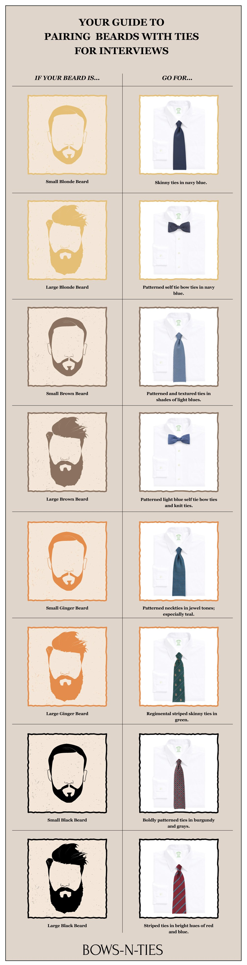 Beard and Tie Pairings