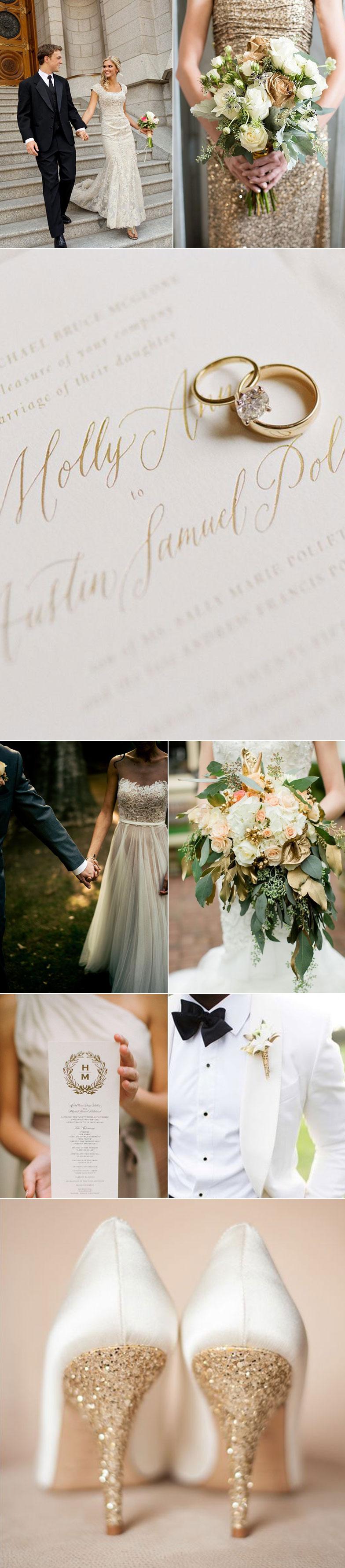Ivory and Gold Wedding Ideas | Groomsmen Ties In Ivory