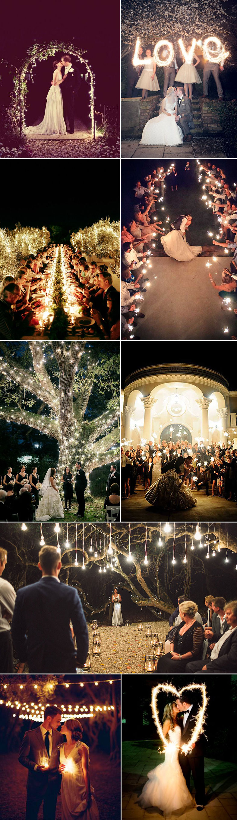 Inspiration For A Night Wedding