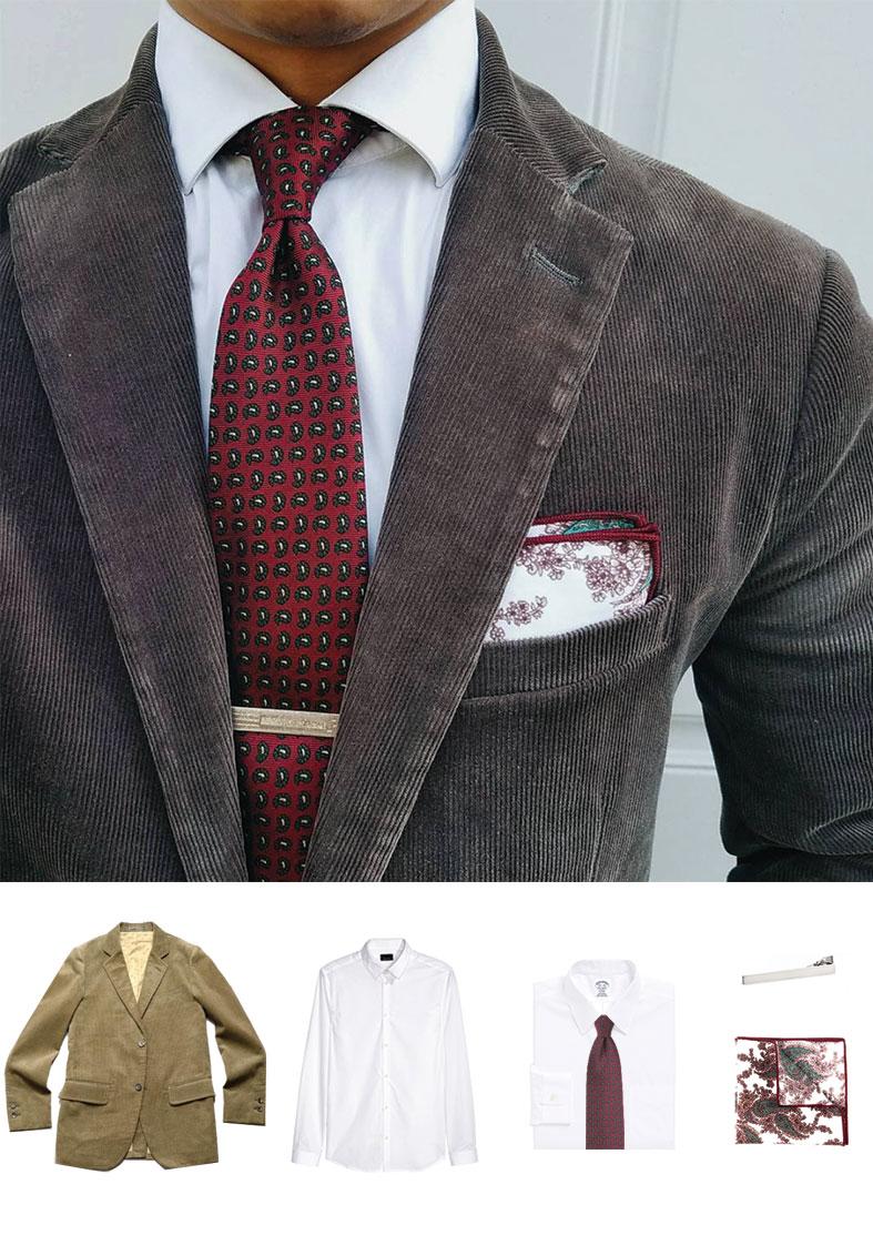 Paisley Autumn Skinny Tie