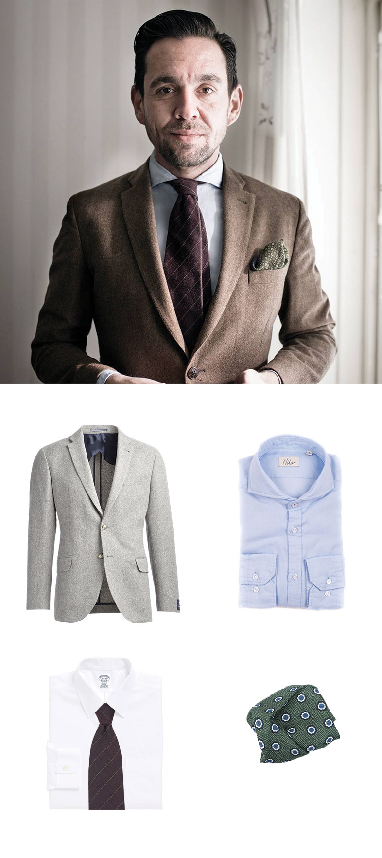 Mahogany Wool Striped Tie