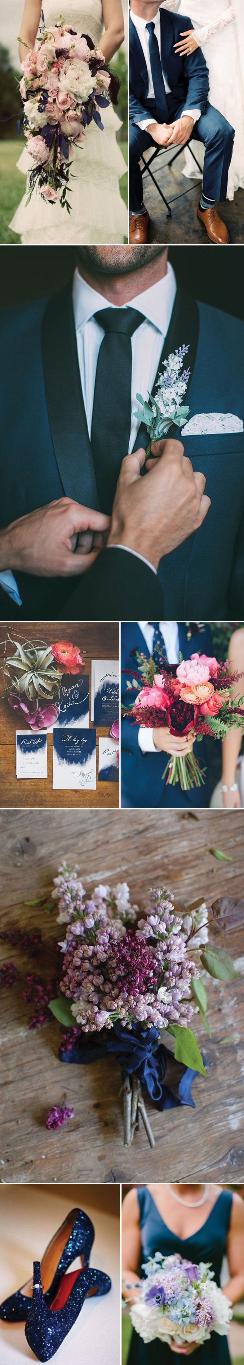 Lavender and Navy Wedding