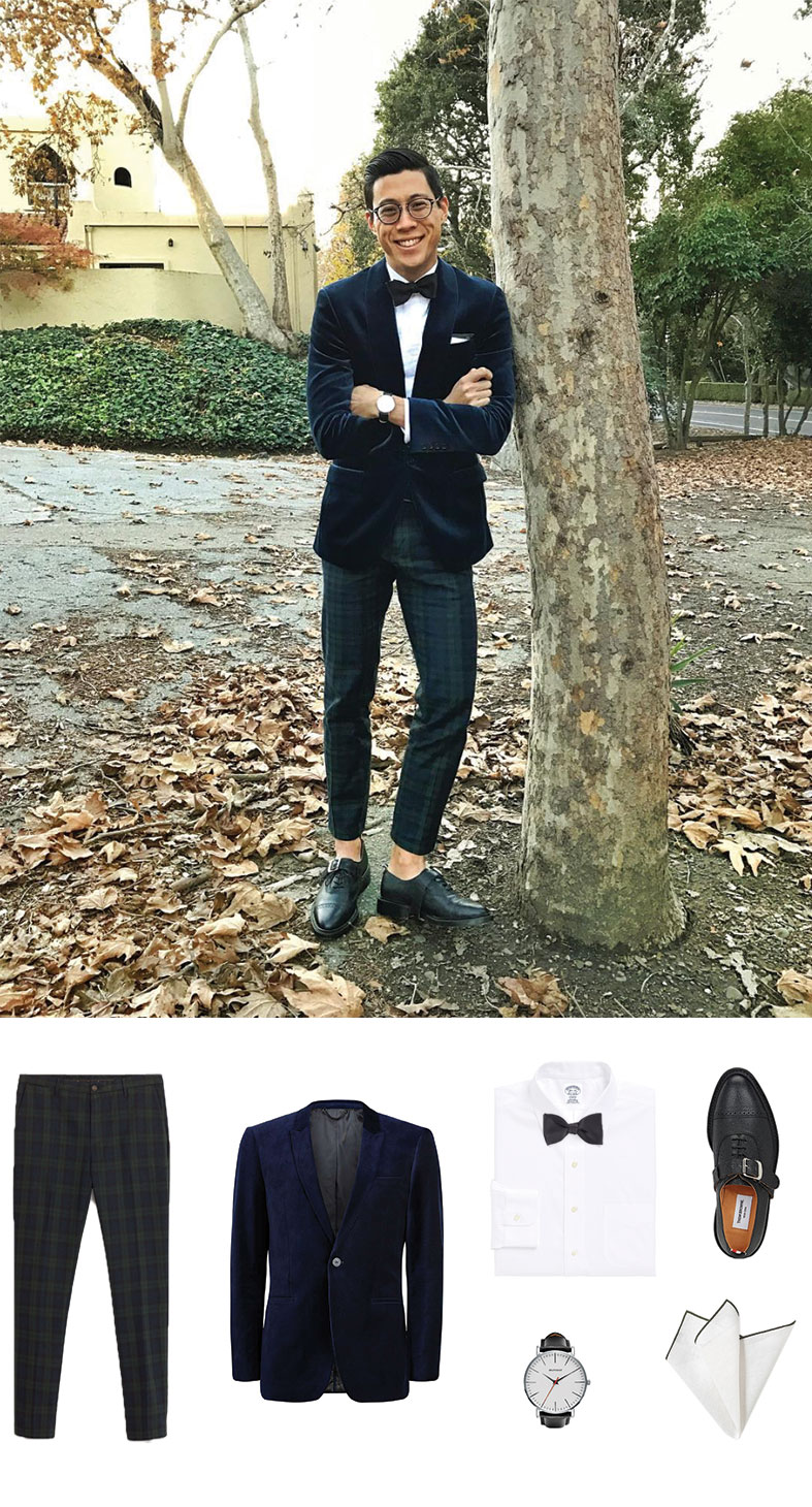 Bow Tie and Velvet Blazer