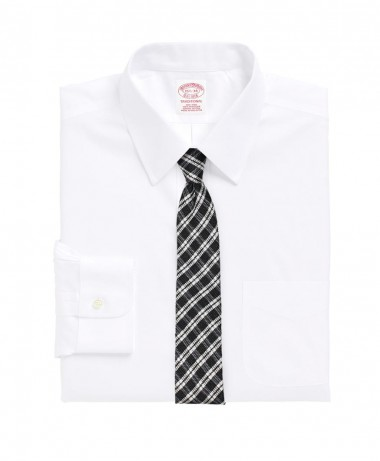 white shirt with raw silk skinny tie