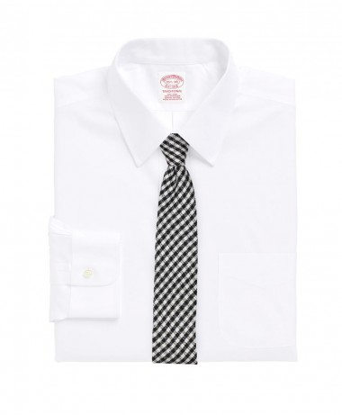 black and white check skinny tie