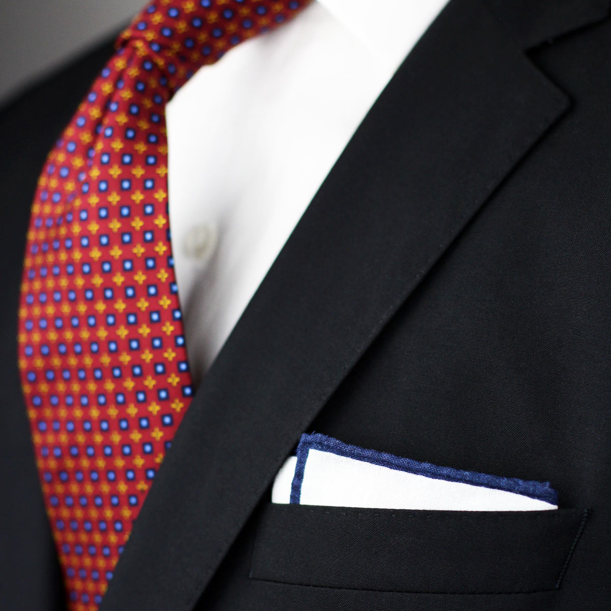 Mens Linen Fabric Pocket Square