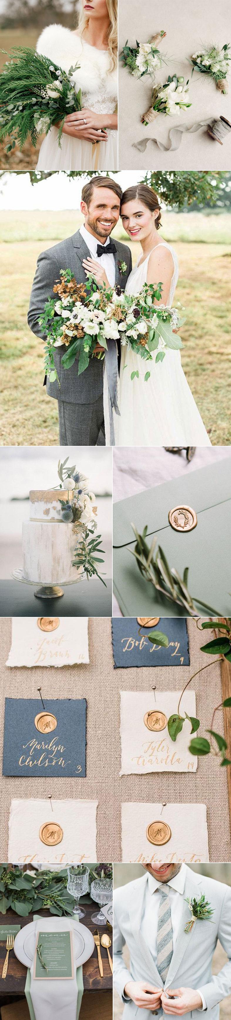Sage + Gold Wedding