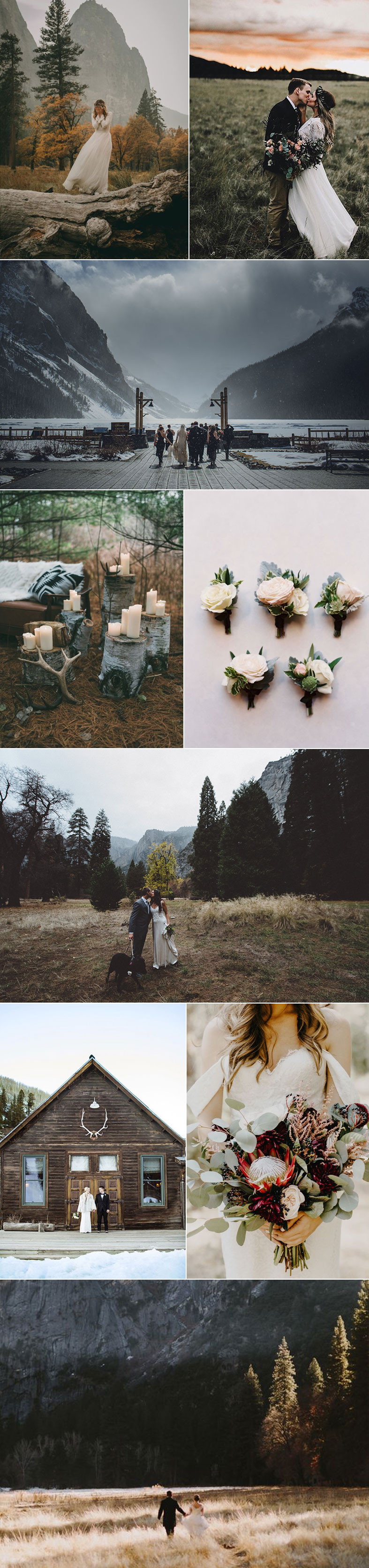 Inspiration For Mountain Weddings