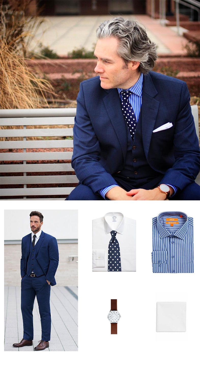 e31eb5e843e Look Of The Week: 3 Piece Suit and Polka Dot Skinny Tie