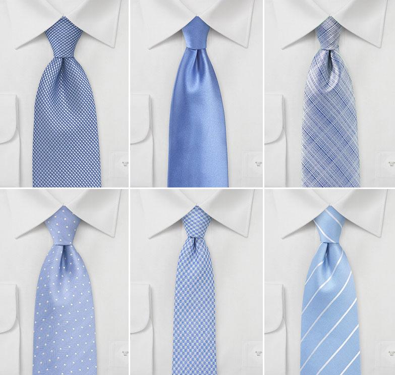 Ties in Bluebird Blue