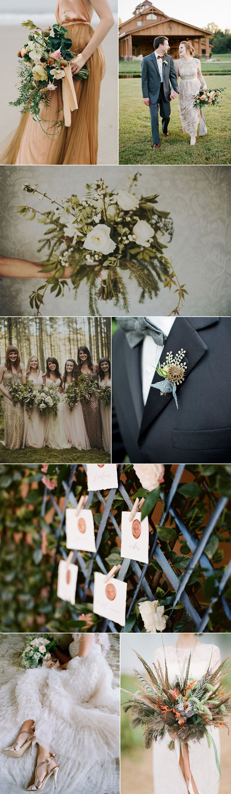 Bronze and Antique White Weddings
