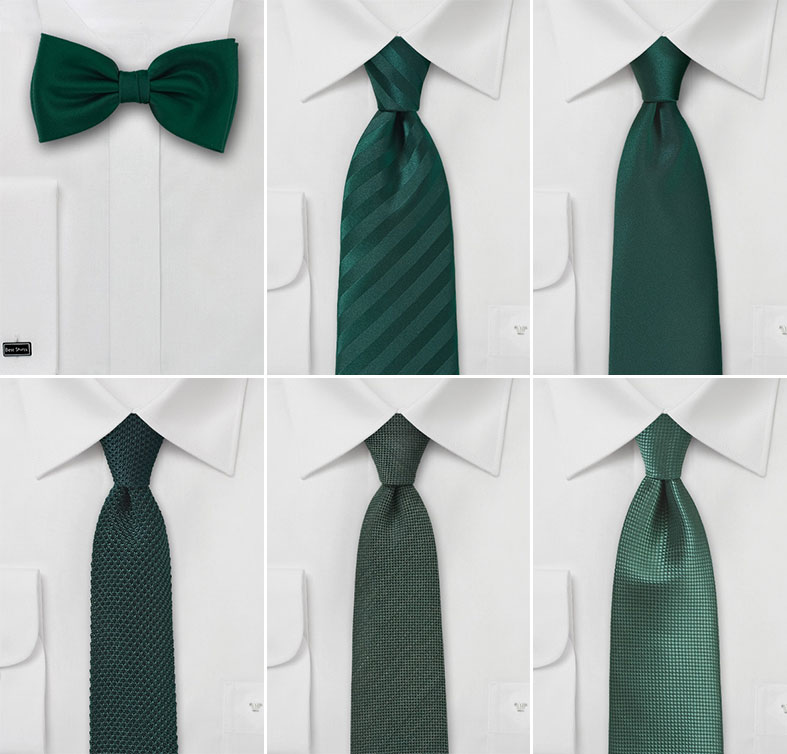 Wedding Ties in Forest Green