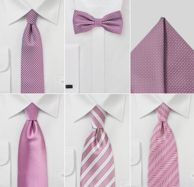 Groomsmen Neckties in Dusty Mauve