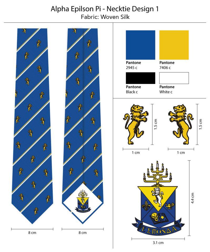 Custom Silk Ties Alpha Epsilon Pi