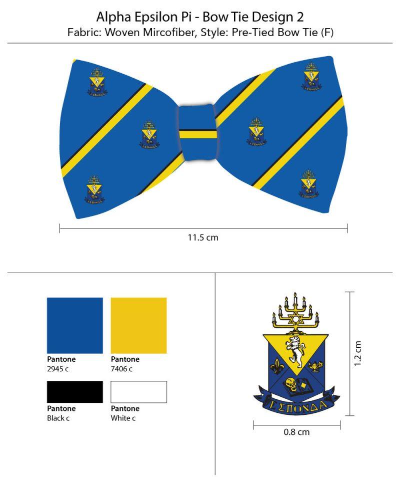 Custom bow ties for Alpha Epsilon Pi