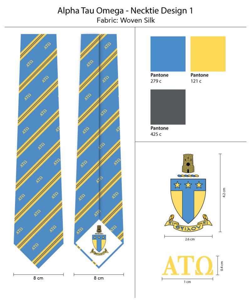 AlphaTauOmega Neckties
