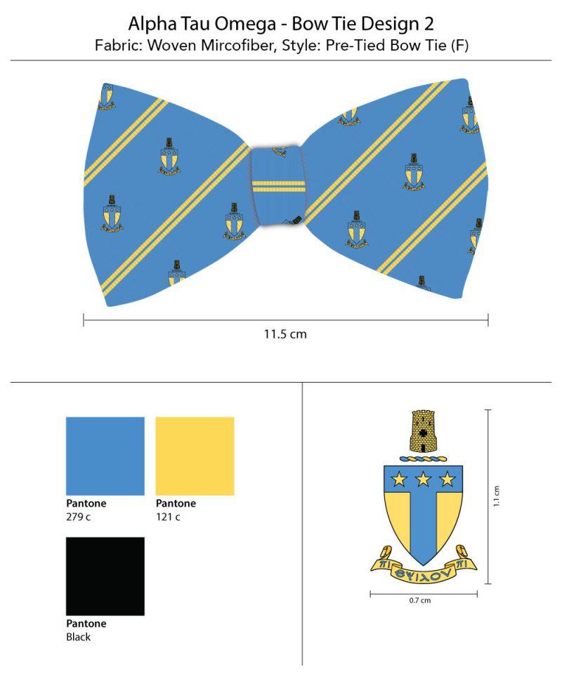 AlphaTauOmega Custom Greek Bow Ties