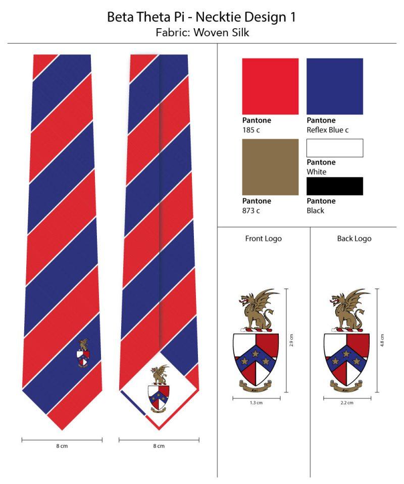 BetaThetaPi Striped neckties